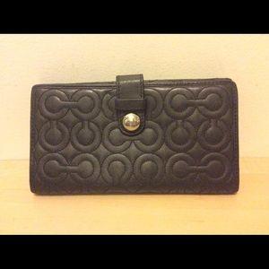 Coach Large Black Leather wallet